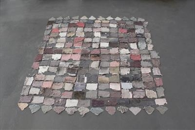 Marriage Quilt 9/9 by Karina Carrington MRBS, Installation, Discarded Materials